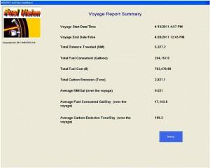 Voyage Summary Report